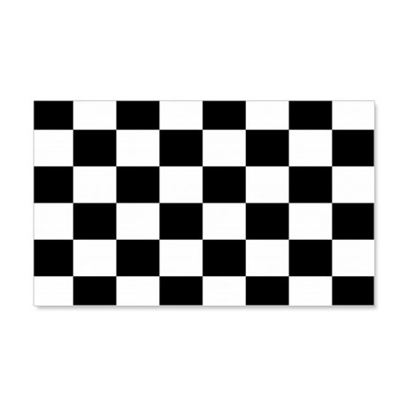 Checkered Flag 20x12 Wall Peel