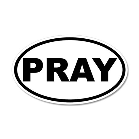 PRAY 20x12 Oval Wall Peel