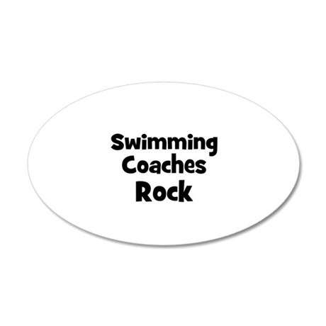 SWIMMING COACHES Rock 35x21 Oval Wall Peel