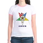 OES Aries Sign Jr. Ringer T-Shirt