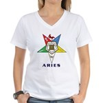 OES Aries Sign Women's V-Neck T-Shirt