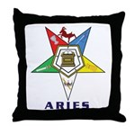 OES Aries Sign Throw Pillow