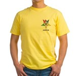 OES Aries Sign Yellow T-Shirt