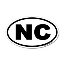 North Carolina NC Euro 35x21 Oval Wall Peel