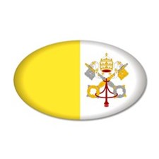 Vatican City 20x12 Oval Wall Peel