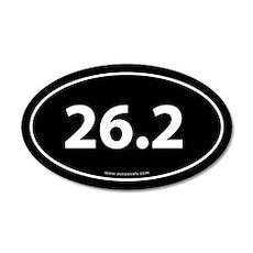 26.2 Marathon 20x12 Oval Wall Peel -Black (Oval)