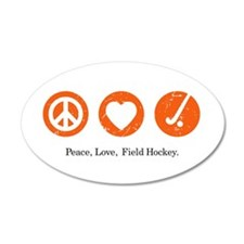 PEACE. LOVE. FIELD HOCKEY 20x12 Oval Wall Peel