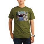 Xmas Portrait Dante Organic Men's T-Shirt (dark)