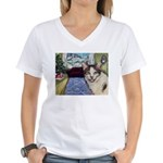 Xmas Portrait Dante Women's V-Neck T-Shirt