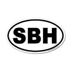 St Barts SBH Euro 35x21 Oval Wall Peel