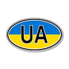 Ukraine Euro 35x21 Oval Wall Peel