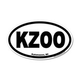 Kalamazoo Michigan KZOO Euro 35x21 Oval Wall Peel