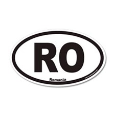 Romania RO Euro 20x12 Oval Wall Peel