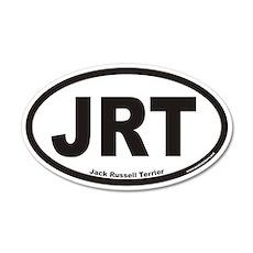 Jack Russell Terrier JRT Euro 20x12 Oval Wall Peel