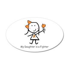 Orange Ribbon - Daughter 35x21 Oval Wall Peel