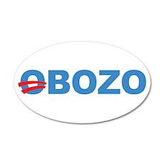 Anti Barack Obama 20x12 Oval Wall Peel