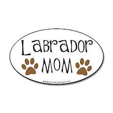 Labrador Mom Oval (black border) 20x12 Oval Wall P