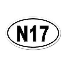 N17 20x12 Oval Wall Peel