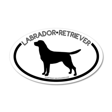 """Labrador"" White 20x12 Oval Wall Peel"