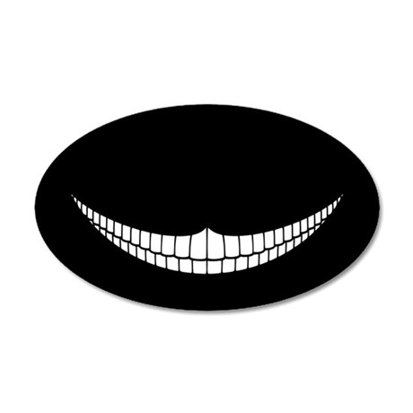 Cheshire Grin 35x21 Oval Wall Peel