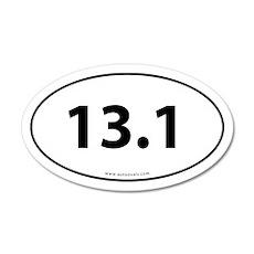 13.1 Half Marathon 20x12 Oval Wall Peel -White (Ov