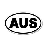Australia AUS Oval Car Sticker