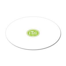 iTri Green 20x12 Oval Wall Peel (Oval)