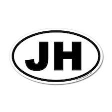 Jackson Hole, WY 20x12 Oval Wall Peel (v3)