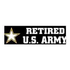 Retired U.S. Army 36x11 Wall Peel