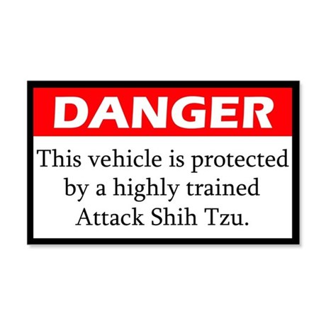 Danger Shih Tzu Sticker