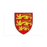 England Coat of Arms 35x21 Wall Peel