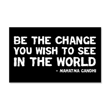 Quote - Gandhi - Change 20x12 Wall Peel