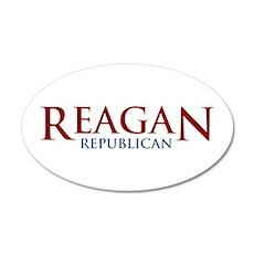 Reagan Republican 20x12 Oval Wall Peel