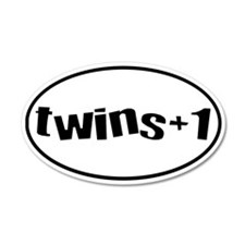 twins+1 20x12 Oval Wall Peel