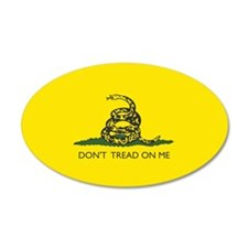 Gadsden Flag 35x21 Oval Wall Peel