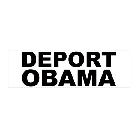 DEPORT OBAMA 36x11 Wall Peel