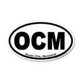 "Ocean City, Maryland ""OCM"" 35x21 Oval Wall Peel"