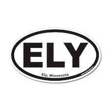 Ely Minnesota ELY Euro 35x21 Oval Wall Peel