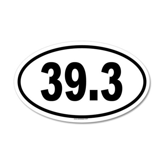 39.3 35x21 Oval Wall Peel