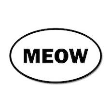 Meow 35x21 Oval Wall Peel