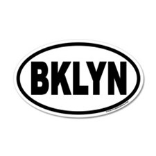 Brooklyn, New York BKLYN Euro 20x12 Oval Wall Peel