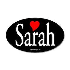 I Love Sarah 35x21 Oval Wall Peel