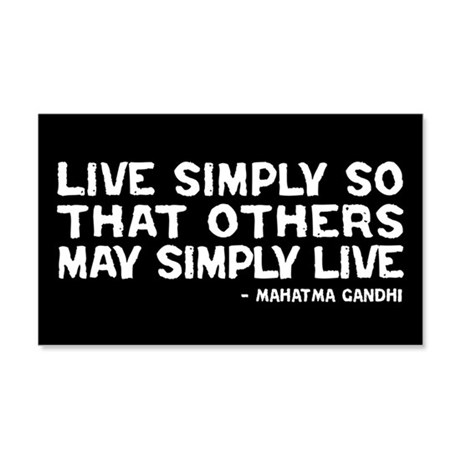 Quote - Gandhi - Live Simply 20x12 Wall Peel