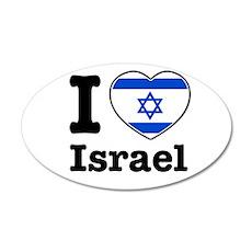 I love Israel 20x12 Oval Wall Peel