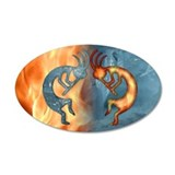 Kokopelli Fire &amp; Ice (NEW) 20x12 Oval Wall Peel