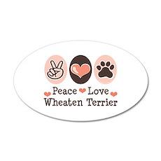 Peace Love Wheaten Terrier 20x12 Oval Wall Peel