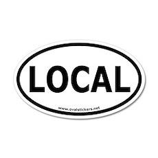 Local Oval Car Sticker
