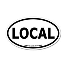Local Oval Car Sticker
