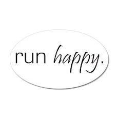 Run Happy 35x21 Oval Wall Peel