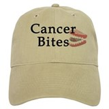 Cancer Bites Baseball Cap (white or khaki)